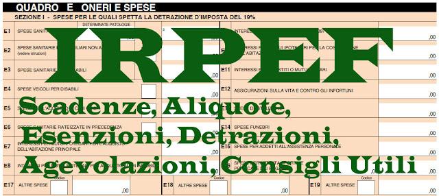 IRPEF 2017, Scaglioni, Aliquote, Calcolo, Detrazioni, Scadenza, Novità