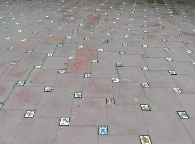 Tiles in the park in Mendoza Argentina