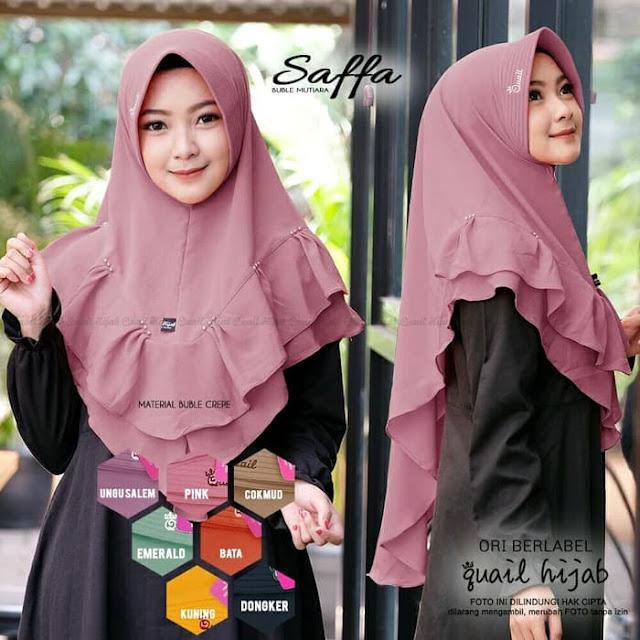 Jilbab Instan SAFFA Terbaru Original Cantik Syari