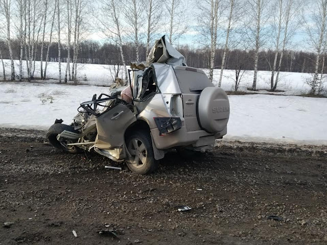 В Иглинском районе иномарка столкнулась с ГАЗелью и с грузовиком Volvo
