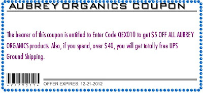 iherb coupon for Aubrey Ogranics
