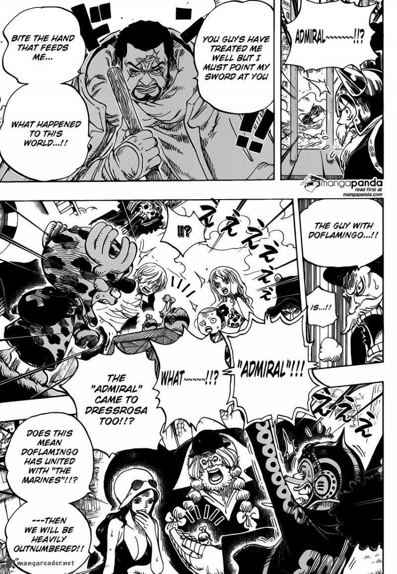 One Piece Ch 730: Three Cards