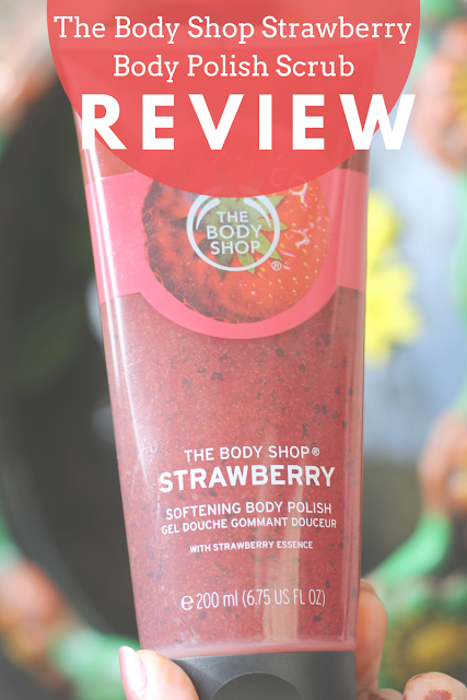 body polishing scrub, body shop body polish, body shop body wash, exfoliating body scrub, the body shop strawberry body polish scrub, the pretty lady blog