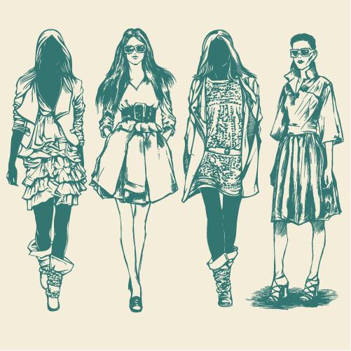 Moda mujer - Vector