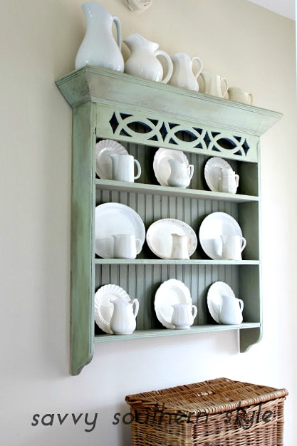 Savvy Southern Style : How To Decorate With Ironstone on small kitchen design white, decorating small space dining room, decorating top of kitchen cabinets, decorating above refrigerator, decorating ideas small spaces magazine,