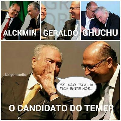 Alckmin o candidato do Temer