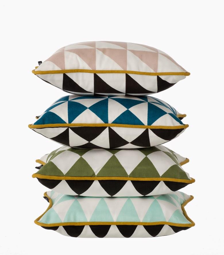 poduszka w trójkąty, geometria we wnętrzu