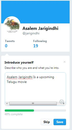 we successfully created twitter account
