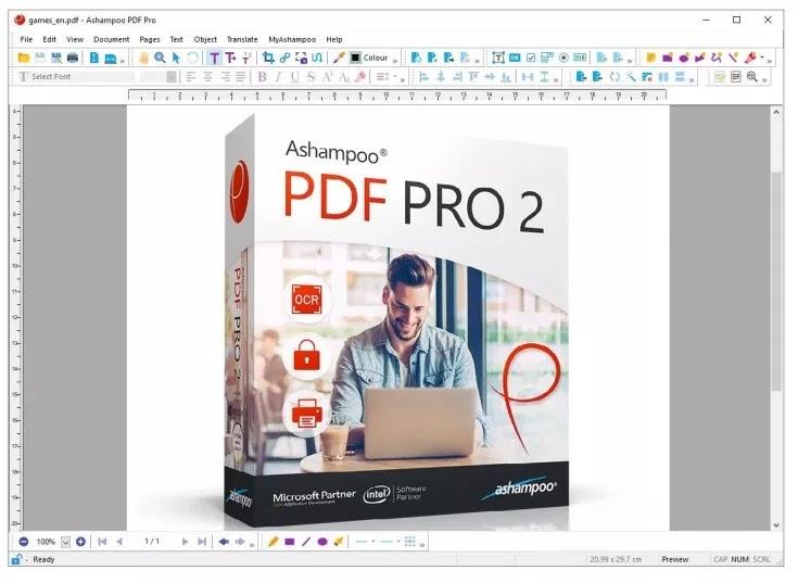 أفضل برامج لعرض وإنشاء وتحرير وإدارة مستندات بي دي أف Ashampoo PDF Pro 2.0.5