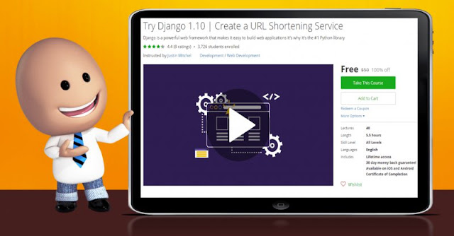 [100% Off] Try Django 1.10 | Create a URL Shortening Service| Worth 50$