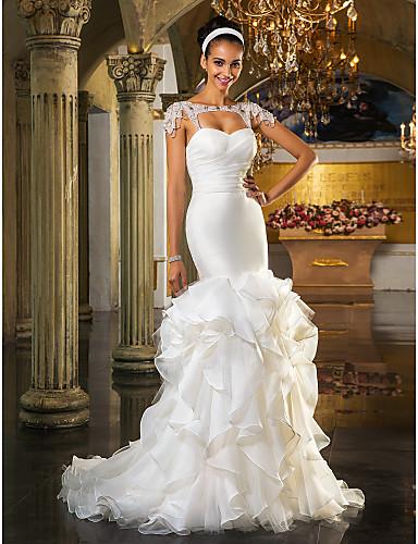 688cb9d585 Vestidos de Novia  Vestido de Novia Marfil Ajustado y Falda Ancha ...