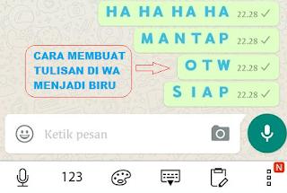 Cara Merubah Warna Tulisan Di Whatsapp Tanpa Aplikasi