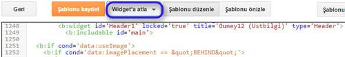 Header1 kodunun bulunması