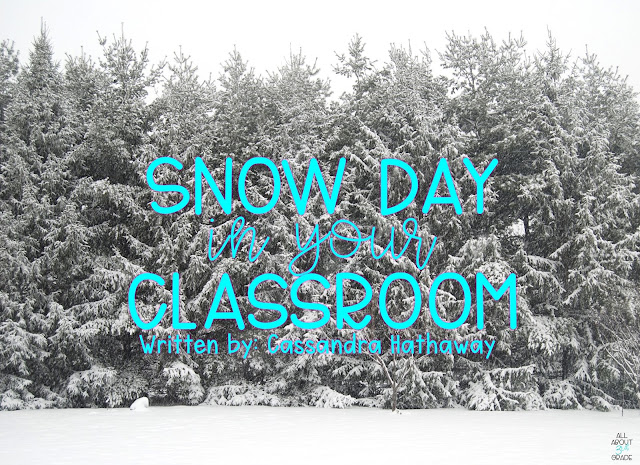 Having a snow day in your classroom is a great way to bring outside experiences inside! Even if you live somewhere where you don't have snow, it is fun to pretend!