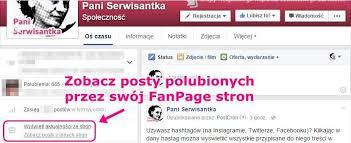Nie moge przełączyć się na mój Fanpage - gdzie są aktualności / posty ze stron, które polubiłam jako Fanpage?