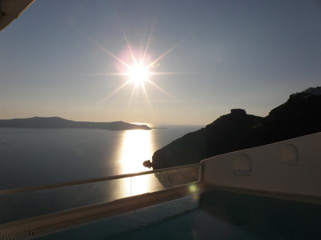 Sonnenuntergang Firostefani, Sunset Suite, Agali Houses Santorin