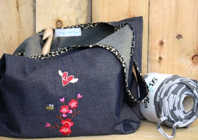 sewing stowe bag lazy daisy jones