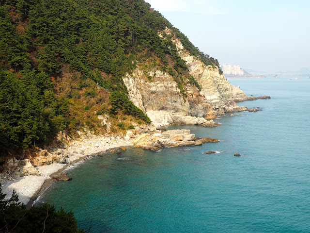 Coastal views from Yeongdo Lighthouse, Taejongdae Park, Busan, South Korea