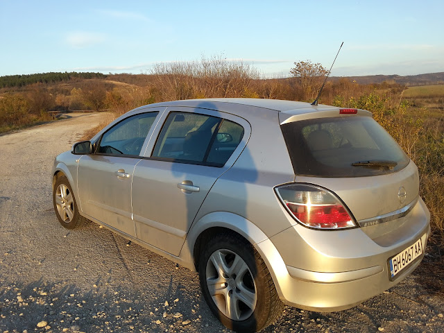 used car Astra H - rear back view