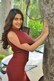 Nikki Tamboli at Chikati Gadilo Chitha Kotudu Movie Trailer Launch