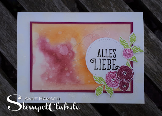 Aquarell - so gehts mit Stampin' Up!