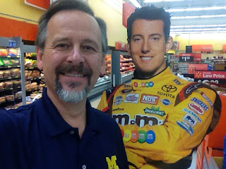 Mike Venturini, M&Ms, cutout, selfie, photo op, Wal-mart