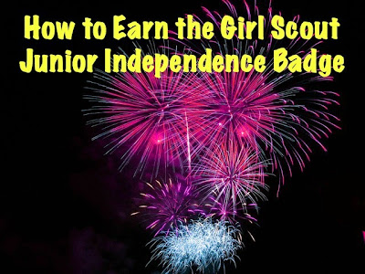 How to Earn the Junior Girl Scout Independence Badge-Links to printables to help with this meeting
