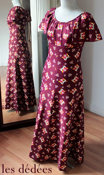 les dedees vintage recup creations robe longue. Black Bedroom Furniture Sets. Home Design Ideas