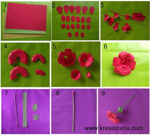 14+ Gambar Bunga Dari Kertas Origami | 453x500