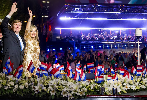 King Willem-Alexander and Queen Maxima of The Netherlands attends the Liberation Day Concert