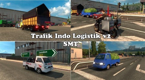 Download Mod Traffic ETS2 Indonesia Logistic v2 SMT
