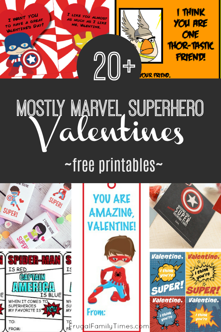 The Joys Of Boys   Avengers Printable Valentines ...