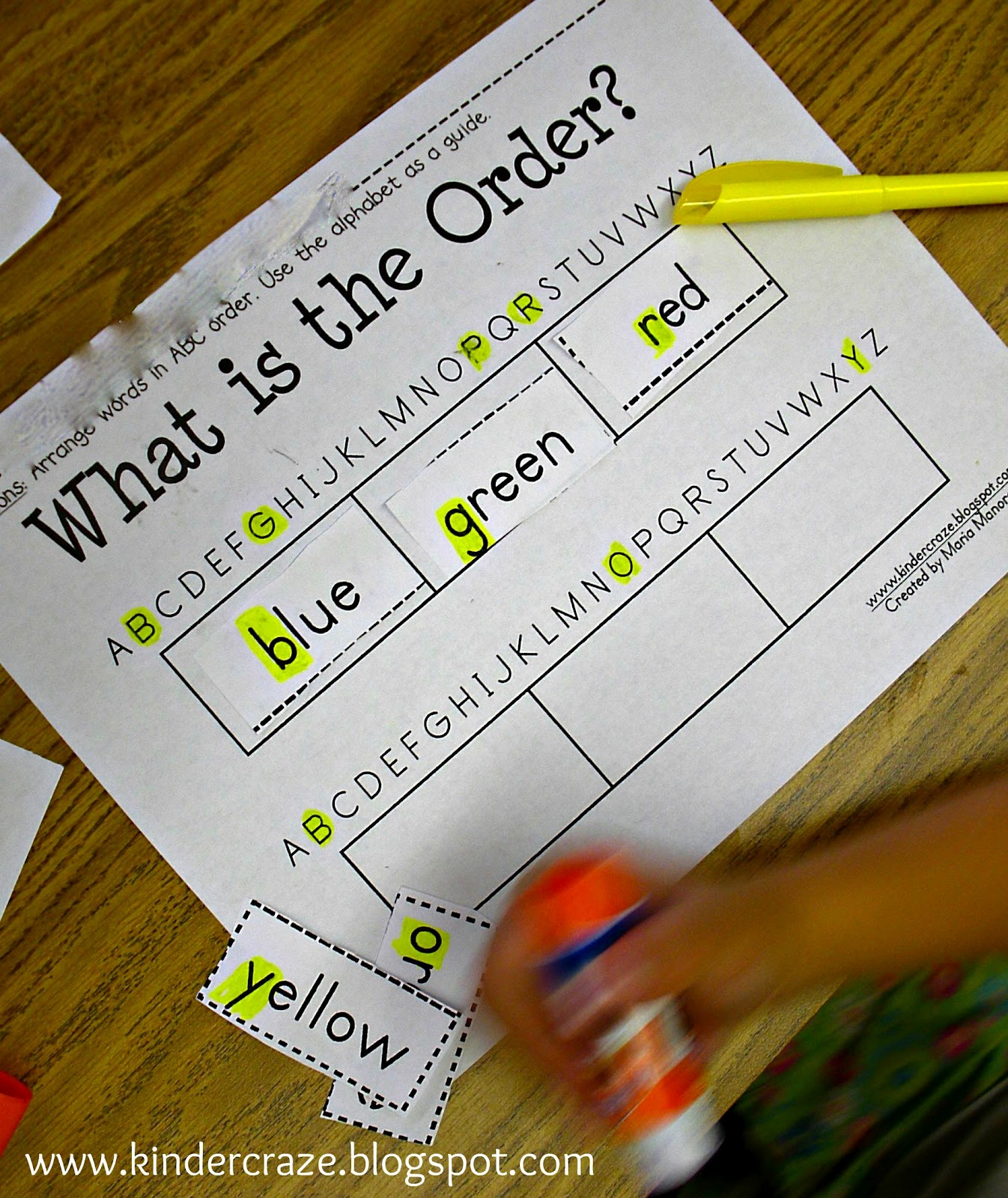 Classroom Freebies Too Introduction To Abc Order