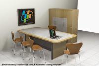Furniture Interior Ruang Rapat - Meja Rapat Kapasitas 6 orang