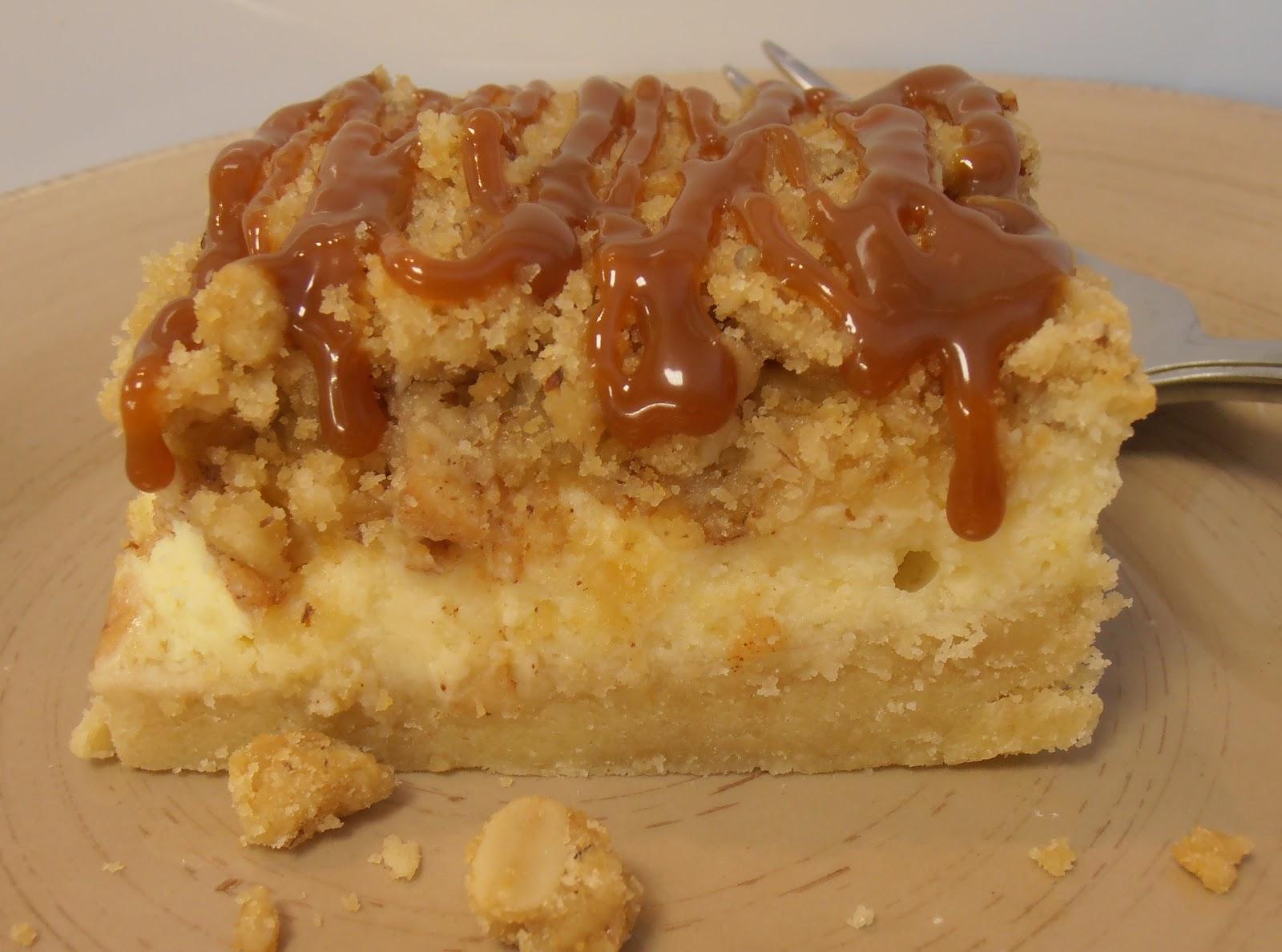 Caramel Apple Cheesecake Bars | The Brunette Baker