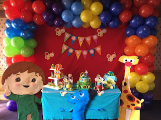 decoracion fiesta baby tv