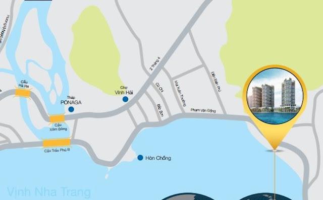 Vị trí Condotel Royal Marina Center Nha Trang