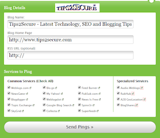ping your blog using pingomatic to drive traffic on blogs