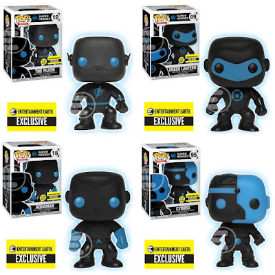 Entertainment Earth Exclusive Justice League Silhouette Glow in the Dark Edition Pop! DC Comics Vinyl Figures by Funko