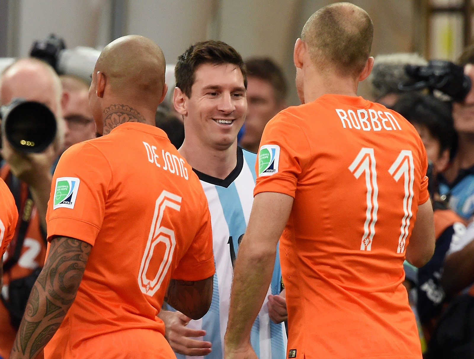 FIFA World Cup 2014: Argentina vs Netherlands Second Semi-final Match in Pictures