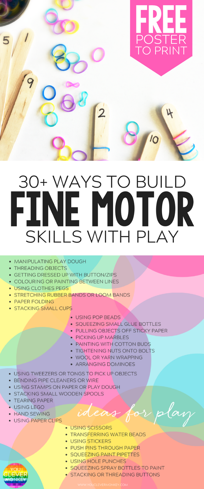 20+ Simple Hands-On Activities That Help Build Fine Motor Skills | you clever monkey