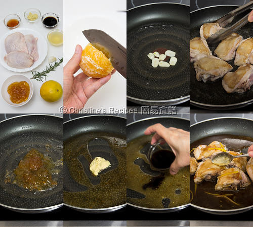 Chicken Thighs with Orange Marmalade Procedures