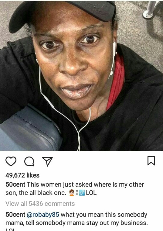 50 Cent trolls elderly lady on Instagram