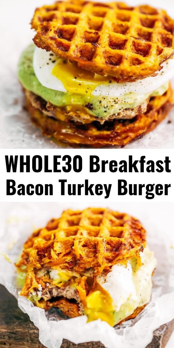 Whole30 Bacon Turkey Burger