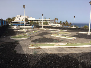 Minigolf San Antonio in Lanzarote. Photo by Les Tubby, July 2018