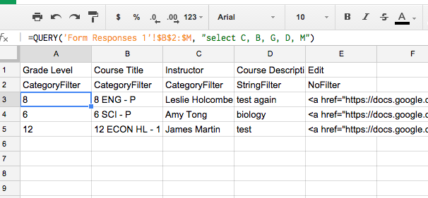 Curriculum Mapping via Google Apps Series: Part 1