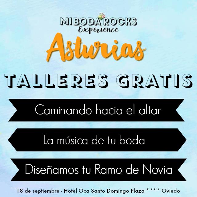 Talleres gratis novios Asturias - Mi Boda Rocks Experience Oviedo