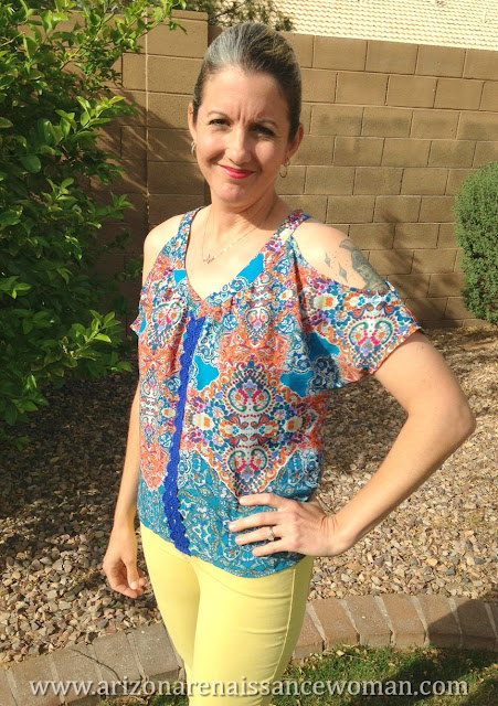 Collective Concepts Soloria Cold Shoulder Top - Stitch Fix Review - March 2016