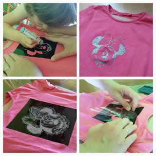 Malování Minnie na tričko