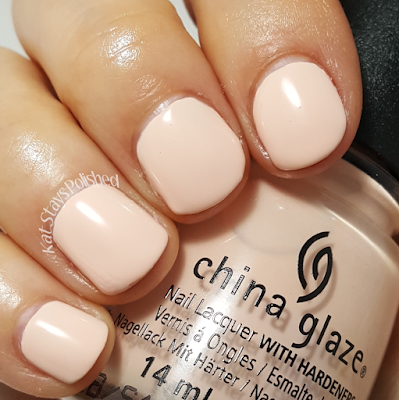 China Glaze Seas and Greetings - Sand in My Mistletoes | Kat Stays Polished
